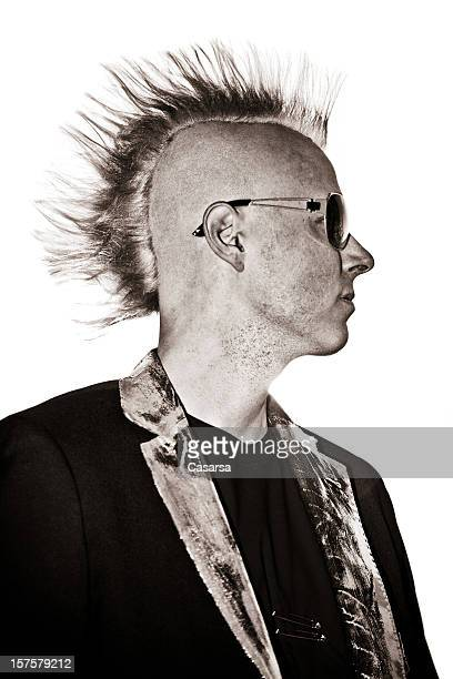 punk - mohawk stock photos and pictures