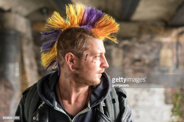 punk portrait - punk person stock pictures, royalty-free photos & images