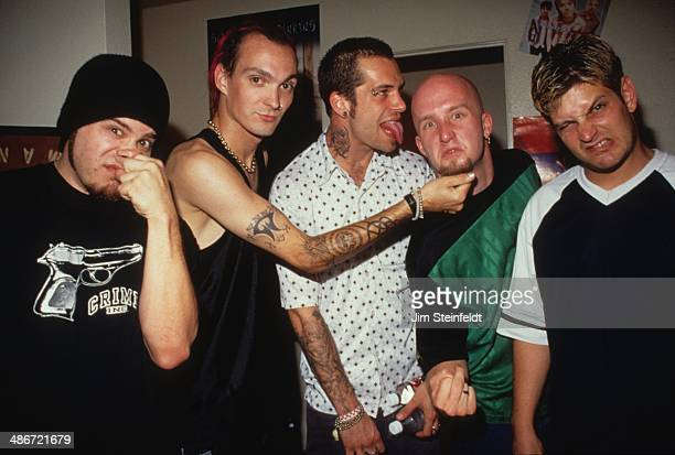 Punk rock band Snot pose for a portrait backstage at the Galaxy Theater in Santa Ana, California on August 26, 1997.