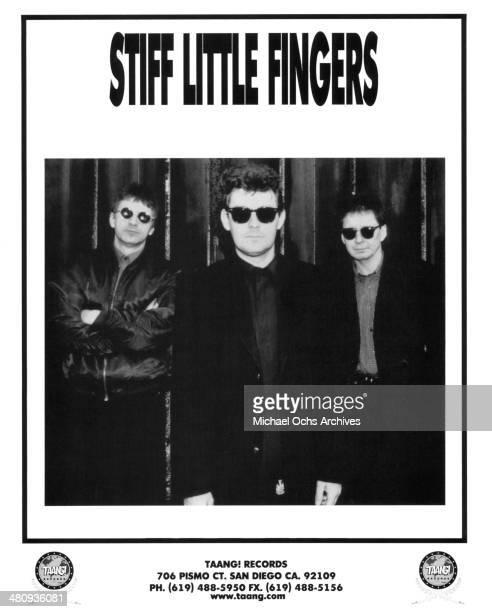 Punk rock band Stiff Little Fingers pose