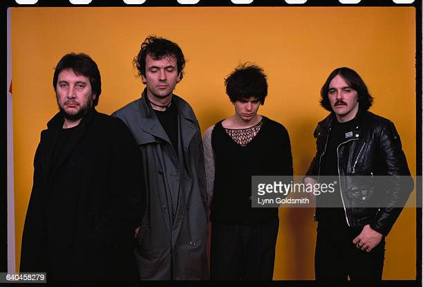 Punk rock band The Stranglers left to right Drummer Jet Black guitarist and vocalist Hugh Cornwell bassist and vocalist JeanJaques Burnel and...