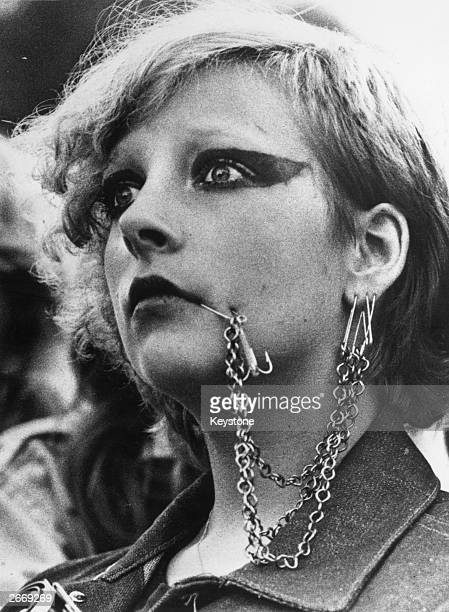 A punk rock fan attending a concert by the British band 'The Clash' in Stockholm