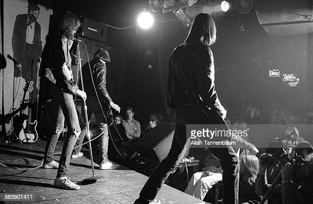 Punk rock group the Ramones perform at CBGB New York New York mid to late twentieth century