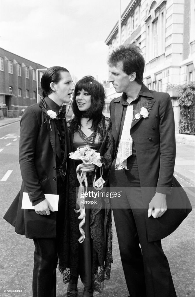 The Wedding of Dave Vanian and Laurie Glendon : News Photo
