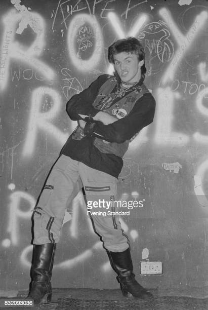 A punk rocker at the punk club The Roxy in Covent Garden London 8th March 1978