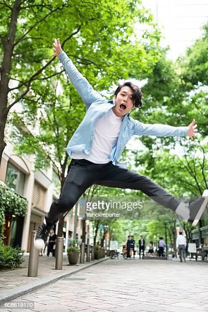 punk rocker jumping in Tokyo