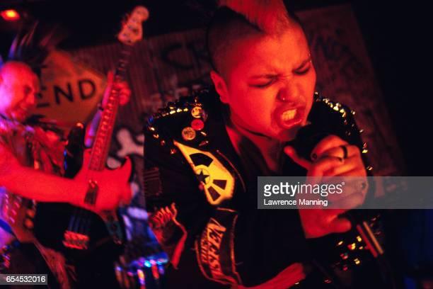 punk singer and bass guitarist - パンクロック ストックフォトと画像