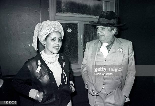Punk singer Poly Styrene of XRay Spex with writer and jazz musician George Melly London 1978