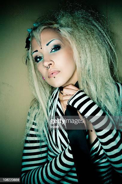 Punk Young Woman Posing
