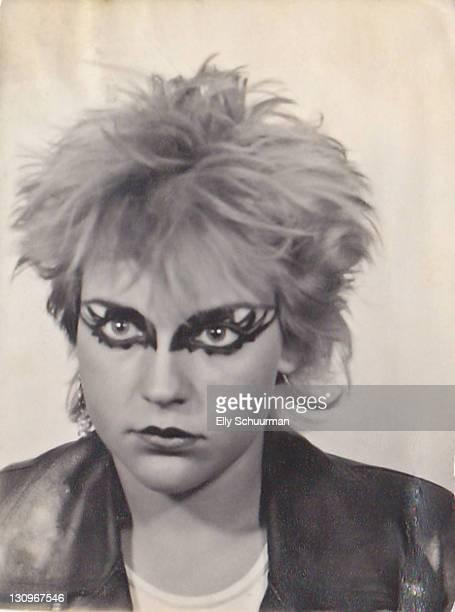 punkgirl in the late 70's - punk photos et images de collection