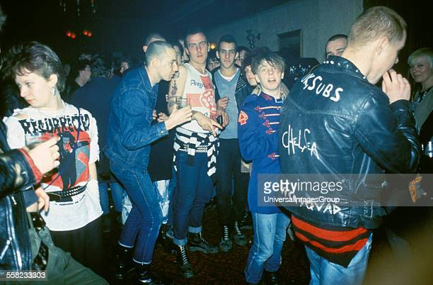 Punks and Skinheads at a GBH Concert Thursday 17th March 1983