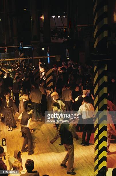 Punks dancing at The Hacienda night club in Manchester circa 1985