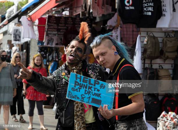 Punks in Camden Town on June 21, 2020 in London, England. The British government have relaxed coronavirus lockdown laws significantly from Monday...