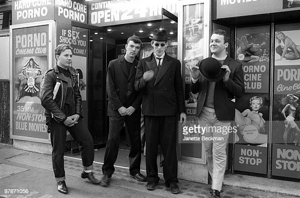 Punk/ska combo Guns For Hire poses for a portait in 1982 in London England