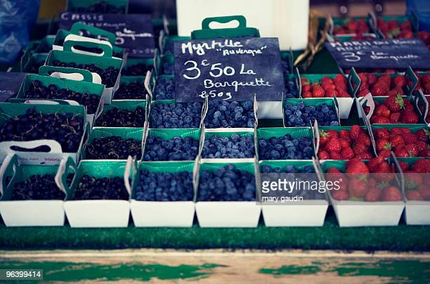 Punnets of fresh berries