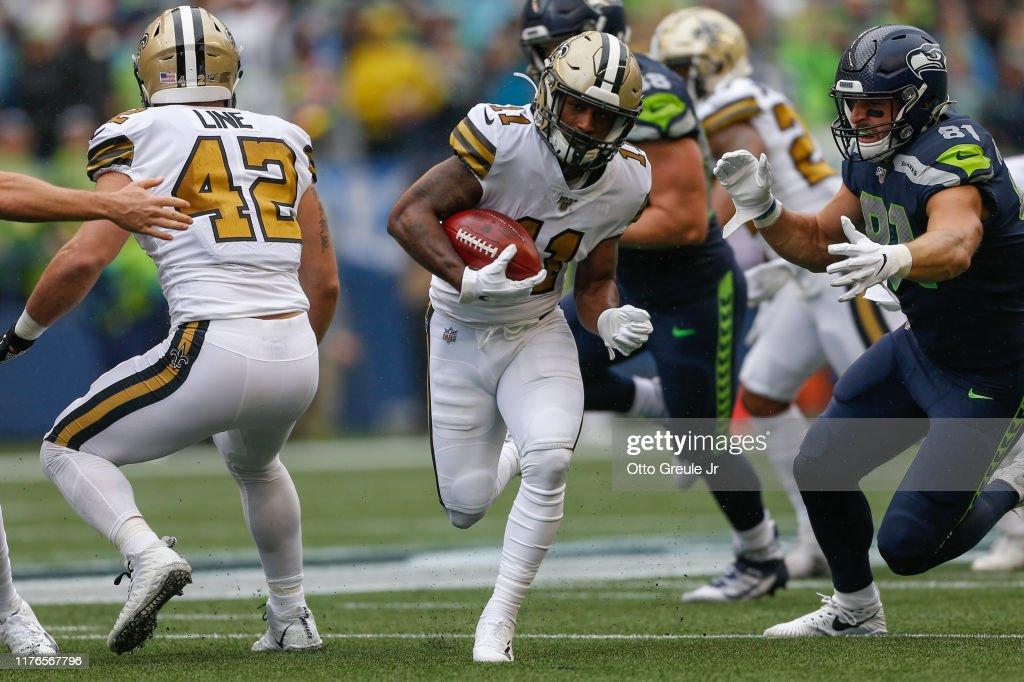 New Orleans Saints vSeattle Seahawks : News Photo
