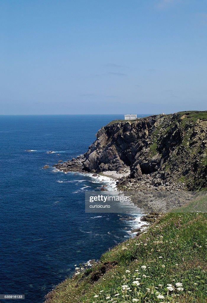 Punta de Estaca de Bares, Galicia, España : Foto de stock