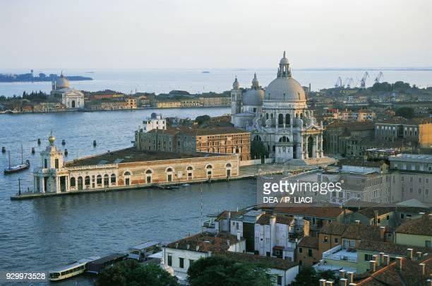 Punta della Dogana and the basilica of Saint Mary of Health, 1631-1687, by Baldassarre Longhena , Venice , Veneto. Italy, 17th century.