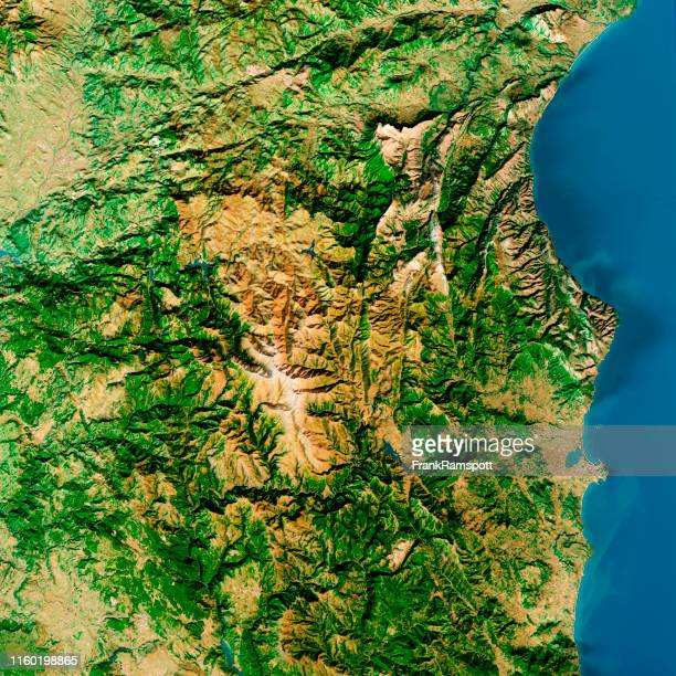 punta la marmora sardinia italy topographic map top view feb 2019 - frank ramspott stock pictures, royalty-free photos & images