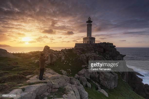 punta nariga sunset - a coruna stock pictures, royalty-free photos & images