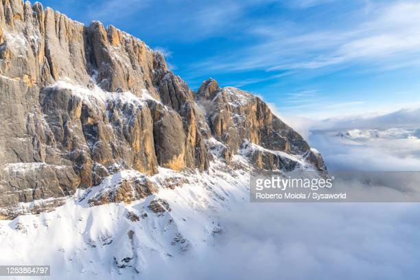 punta penia peak, marmolada, dolomites, italy - steep stock pictures, royalty-free photos & images
