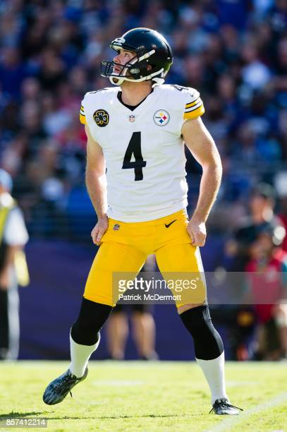 Punter Jordan Berry of the Pittsburgh Steelers in action in the second half against the Baltimore Ravens at MT Bank Stadium on October 1 2017 in...