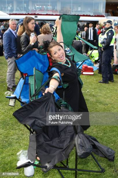A punter pictured at the end of the day at the Melbourne Cup Carnival on November 7 2017 in Melbourne Australia Chris Putnam / Barcroft Images