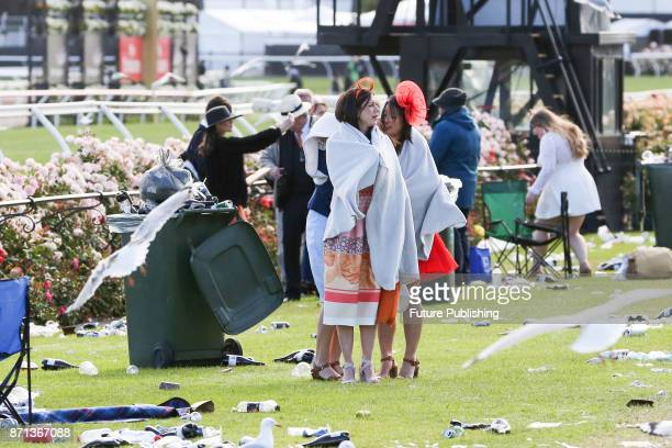 Punters brave the cold as they arrive at the Melbourne Cup Carnival on November 7 2017 in Melbourne Australia Chris Putnam / Barcroft Images