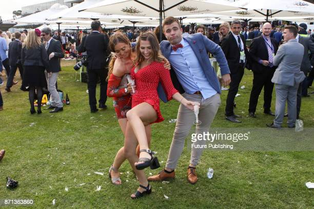 Punters pictured at the end of the day at the Melbourne Cup Carnival on November 7 2017 in Melbourne Australia Chris Putnam / Barcroft Images