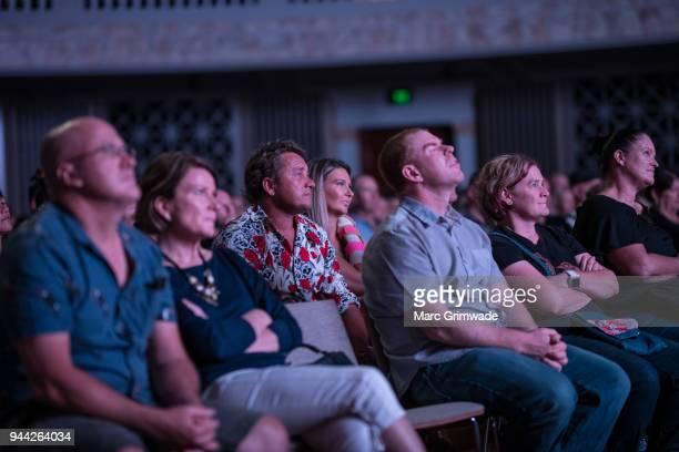 Punters watching Jimmy Barnes performing at Brisbane City Hall on April 10 2018 in Brisbane Australia