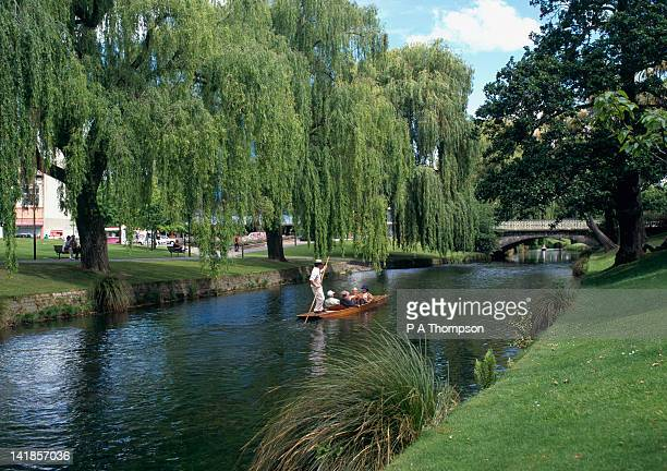 Punting on River Avon, Christchurch, Canterbury, New Zealand