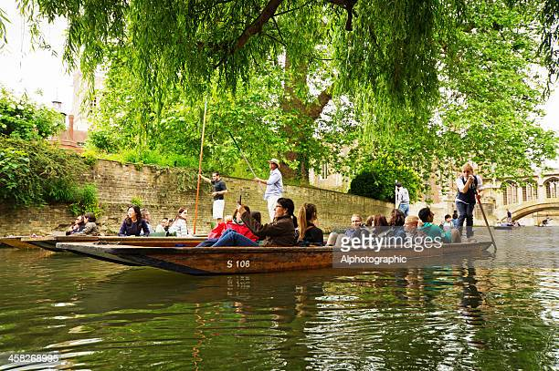 punting on the cam - cambridge england stock pictures, royalty-free photos & images