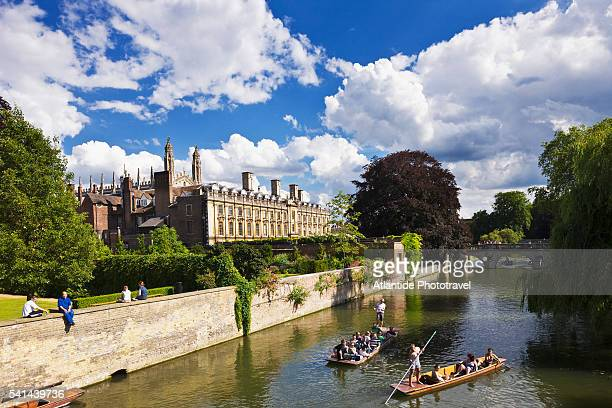 Punting on the Cam River near Clare College