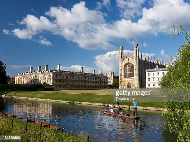 Punting on The River Cam, Cambridgeshire, UK
