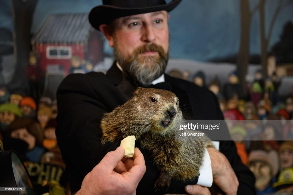 Annual Groundhog's Day Tradition In Punxsutawney, Pennsylvania Will Take Place Without The Usual Crowd : News Photo
