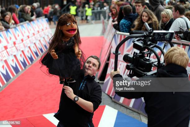 A pupet of Judge Alesha Dixon arrives for the Britain's Got Talent Manchester auditions on February 9 2017 in Manchester United Kingdom