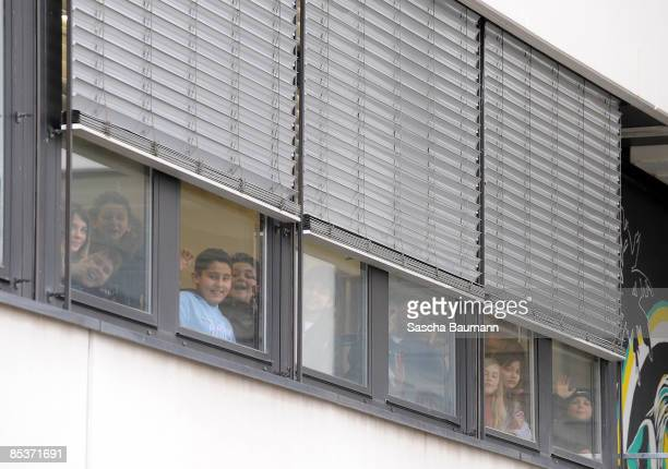 Pupil are seen at the AlbertvilleSchool Centre on March 11 2009 in Winnenden near Stuttgart Germany According to media reports a gunman attacked a...