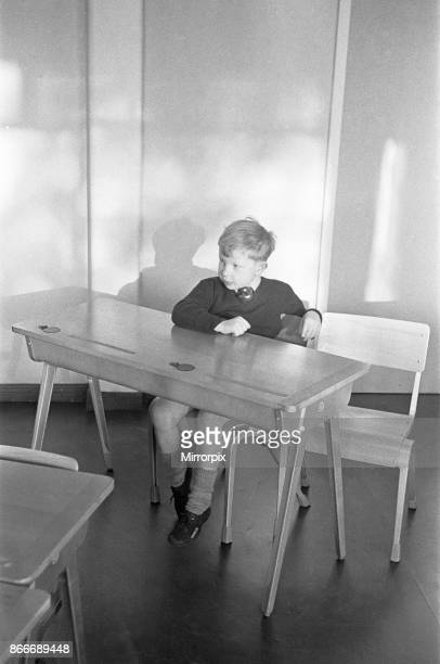 A pupil in isolation at the South Mead School Southfield Wimbledon 14th January 1954