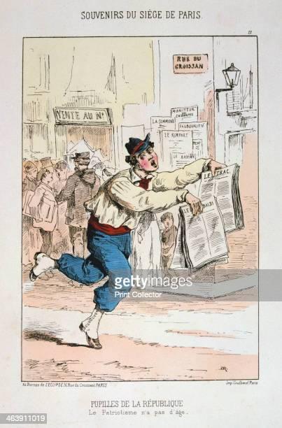 'Pupilles de la Republique' Siege of Paris 18701871 Print from a series titled Souvenirs du Siege de Paris After the disastrous defeat of the French...