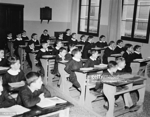 Pupils at a boys' school in Italy 1949