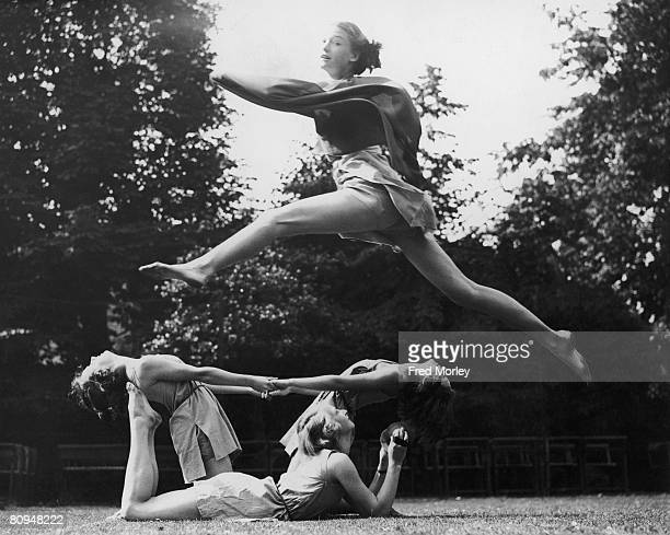 Pupils at Crouch End High School perform a open air dance in the style of the ancient Greeks 11th July 1936