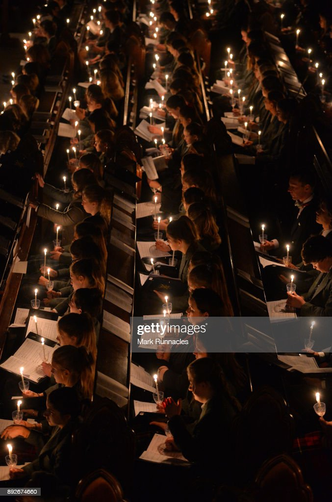 Pupils At Glenalmond College Participate In Its Annual Candlelit Service