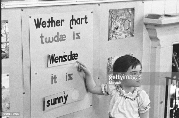 Pupils at Roxeth Primary School Harrow being taught English pronunciation using the Clearspell alphabet system 8th November 1961