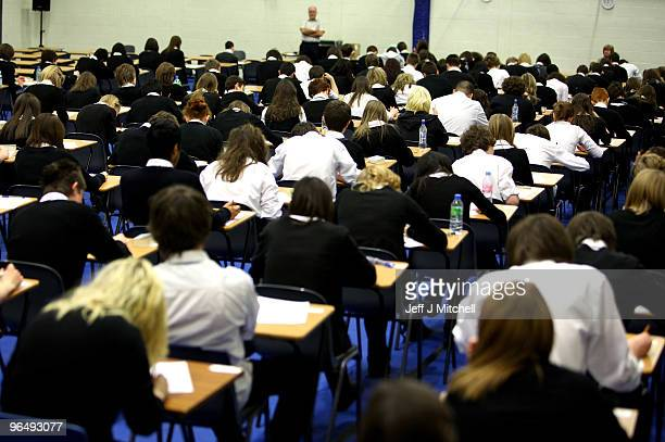Pupils at Williamwood High School sit prelim exams on February 5 2010 in Glasgow Scotland As the UK gears up for one of the most hotly contested...