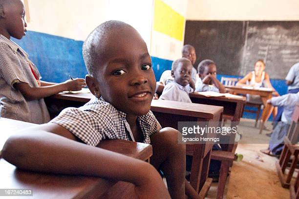 CONTENT] Pupils during a lesson at the Timbwani Baptist Primary School in Likoni Mombasa Kenya
