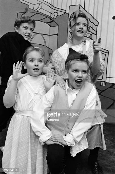 Pupils of St Patricks Roman Catholic Primary School Birkby in a scene from Up the Bean their finalyear pupils pantomime Treading the boards are...