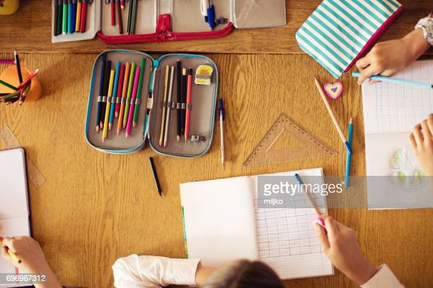 pupils on class in school - elementary school stock pictures, royalty-free photos & images