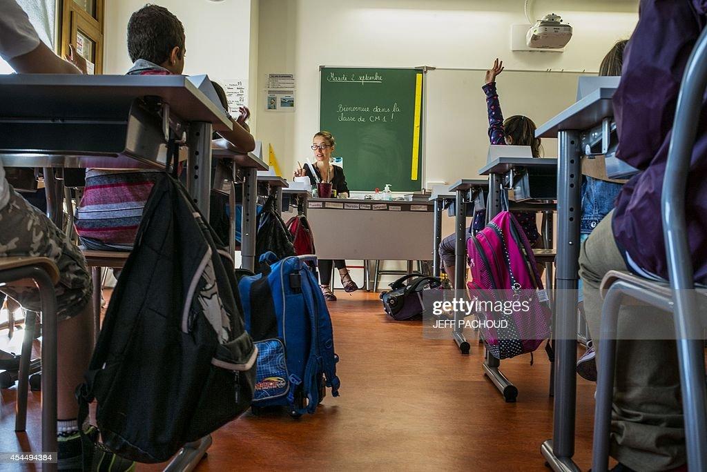 FRANCE-EDUCATION-SCHOOL-YEAR : News Photo