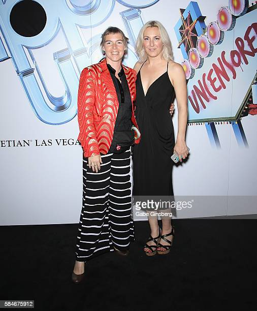 Puppet builder Amanda Maddox and producer Ry Pepper attend Brian Henson presents Puppet Up Uncensored at The Venetian Las Vegas on July 29 2016 in...