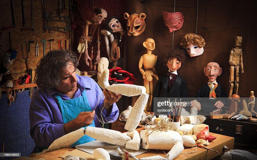 Puppet  Maker : Stock Photo